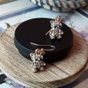 Jewelry - NEW Bear Bling Earrings
